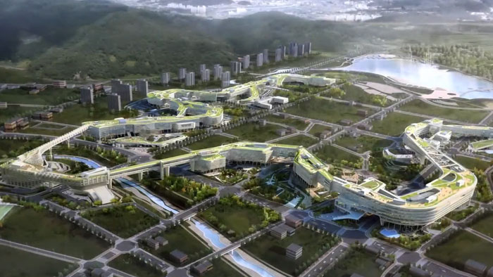 The hub of goverenment admistration of the Republic of Korea The Government Complex Sejong